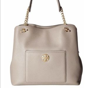 Tory Burch Chelsea slouchy tote grey